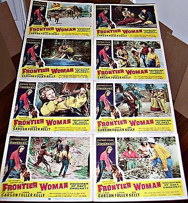 Frontier Woman, Daughter Of Davy Crockett (1956) Cindy Carson Orig 8 Card Set