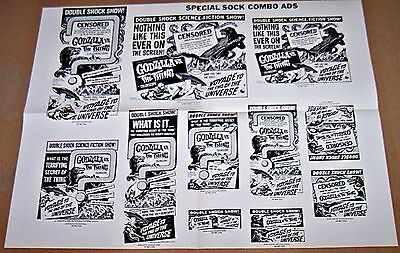 Godzilla Vs The Thing & Voyage To The End Of The Universe (1966) Orig Presssheet
