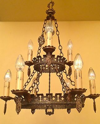 Vintage Lighting extraordinary 1920s Spanish Revival chandelier