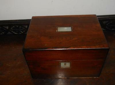 ladies victorian rosewood vanity jewellery box