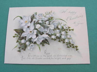 Victorian Christmas Greeting Card Flowers