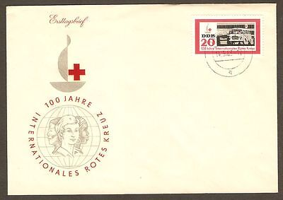 DDR Germany 1963 FDC Cover 100 Years of Red Cross Centenary