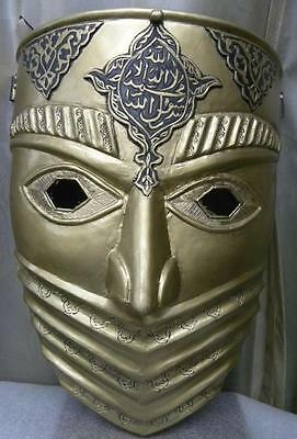 """Persian Islamic Mask Calligraphy Front Cover Page  On""""the Arts Of Muslim Knight"""