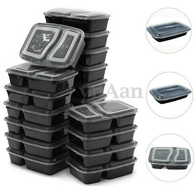 9/20pcs Microwavable Plastic Meal Prep Bento Lunch Box Food Lunch Box Container