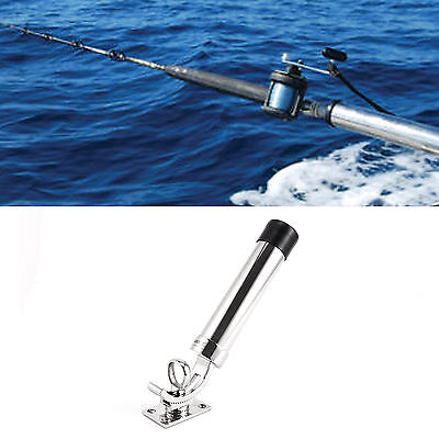 316L Stainless Steel Fishing Rod Gear Holder Tube For Boat Rotates 360 Degrees