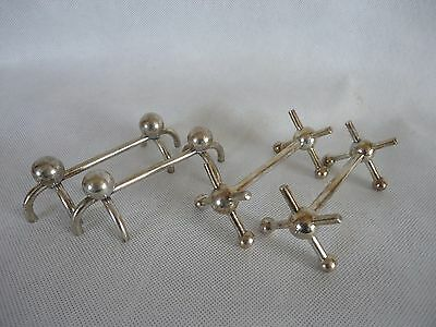 2 Pairs Vintage Contemporary Silver Plated  Knife Rests