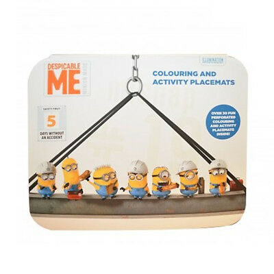 Despicable Me Colouring & Activity Placemats Childrens Party Stocking Filler