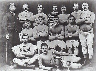 Blackburn Olympic FC 1882 Squad Team Photo Vintage Reprint Football, 7x5 Inch