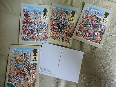 A Full Set Of 5 Post Office Postcards--  The Lord Mayors Show