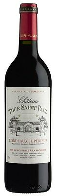 Chateau Tour St Paul Bordeaux Superieur 2014 (6 x 750mL), FR.