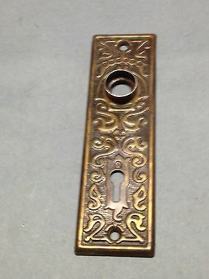 Antique Vintage Victorian Door Knob Key Hole Lock Plate Part