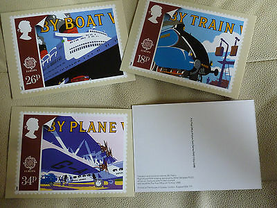 A Full Set Of 4 Post Office Postcards--  Transport And Communications