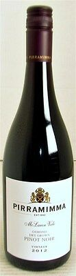 Pirramimma `Osmond Dry Grown` Pinot Noir 2012 (12 x 750mL), SA.