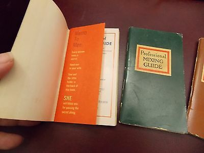 3 Vintage Alcoholic Beverage Professional Mixing Guide 1950-1964 Angostura Bitte