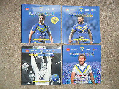 4 x RUGBY SUPER LEAGUE 2014 WARRINGTON WOLVES v WIGAN, WIDNES, SALFORD, CATALANS