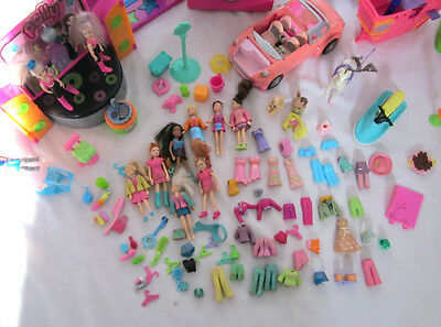 Huge Job Lot Of Polly Pocket Toys Figurines Clothing Accessories