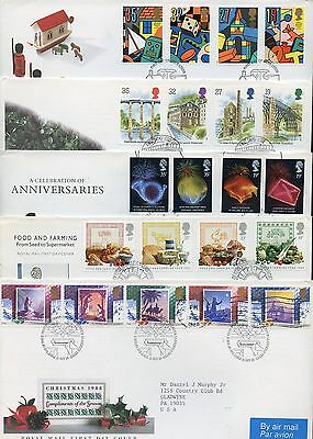 Great Britain Lot I Of 60 Different Official Addressed First Day Covers
