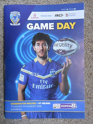RUGBY SUPER LEAGUE 2016 ~ WARRINGTON WOLVES v St HELENS ~ 4th AUGUST 2016