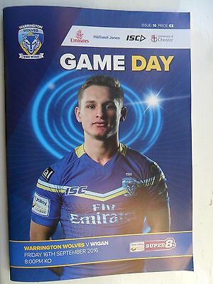 RUGBY SUPER LEAGUE 2016 ~ WARRINGTON WOLVES v WIGAN WARRIORS ~ 16th SEPT 2016