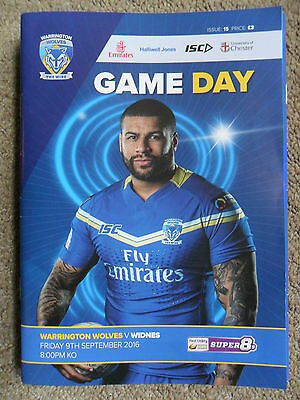 RUGBY SUPER LEAGUE 2016 ~ WARRINGTON WOLVES v WIDNES VIKINGS ~ 9th SEPT 2016