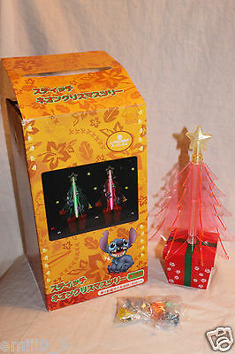 New In Box Red Disney Lilo And Stitch Japan Rare Christmas Tree With Ornaments