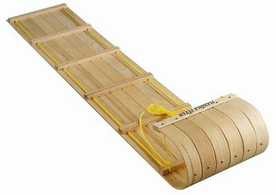 Flexible Flyer 6 Ft. Canadian Toboggan With Hand And Tow Rope In Maple Finish C6