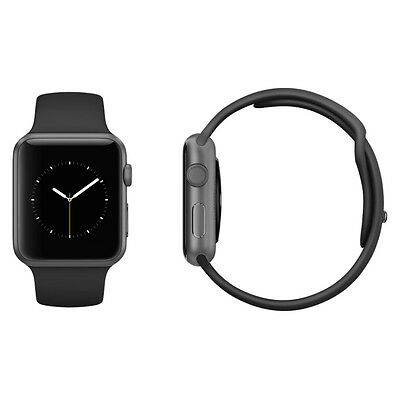 Apple Watch Sport 42mm Space Grey Aluminium Black Sport Band