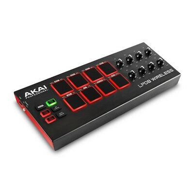Akai LPD8 Wireless MIDI over Bluetooth/USB DJ Drum Pad Controller for iOS/PC/Mac