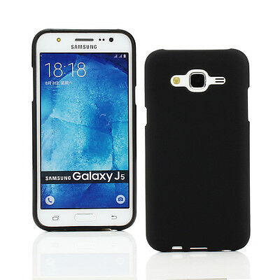 TPU Gel Case+Car Charger+more for Samsung Galaxy J5-Black Frosted Pattern
