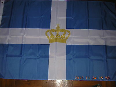 NEW Reproduced State Flag Ensign of Kingdom of Greece Greek 1935-1973 3ftX5ft,
