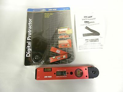 Cen-Tech Electronic Digital Protractor Angle Finder Miter Gauge (A7)