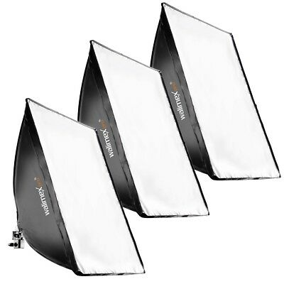 walimex pro 3er Set Daylight 250W Studio Set inkl Daylight 250 + Softbox 40x60cm