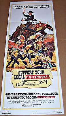 Support Your Local Gunfighter (1971) James Garner * Great Art Orig 14X36 Insert
