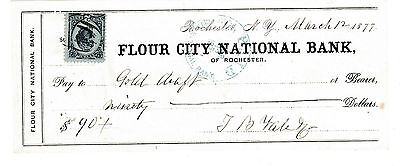 FLOUR CITY NATIONAL BANK of ROCHESTER, NEW YORK  1877   WITH REVENUE