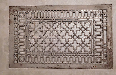 Vintage Cast Iron Grate, Arts & Crafts Industrial Steampunk Abstract Persian Art