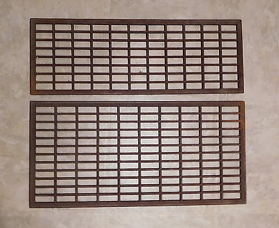 Pair Cast Iron Grates, Arts & Crafts, Industrial, Steampunk, Abstract Wall Art