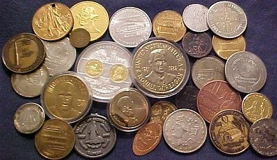 30 Piece Lot Of Misc. Medals & Tokens