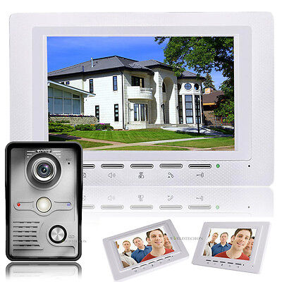 "7"" Wired LCD Video Door Phone Doorbell Intercom Kit Camera Monitor Night Vision"