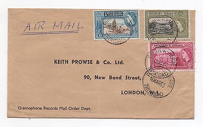 1960 TRINIDAD & TOBAGO QEII Air Mail Cover POINTE A PIERRE To LONDON