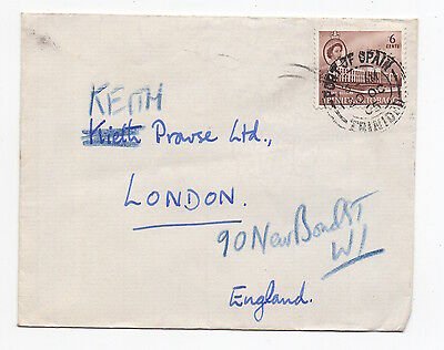 1965 TRINIDAD & TOBAGO QEII Cover PORT OF SPAIN To LONDON