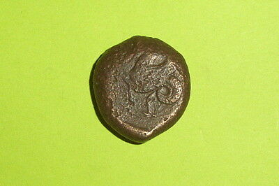 RARE Ancient GREEK COIN hippocamp SYRACUSE SICILY 412 BC-345 BC Athena war old