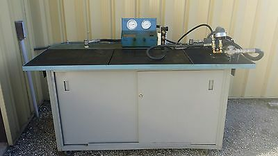 Megatech MP-805A Hydraulic test & repair rebuild drain table cabinet