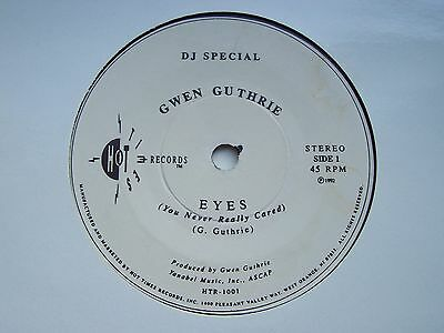 Gwen Guthrie, Eyes (You Never Really Cared. 1992 Dj Special Issue Single