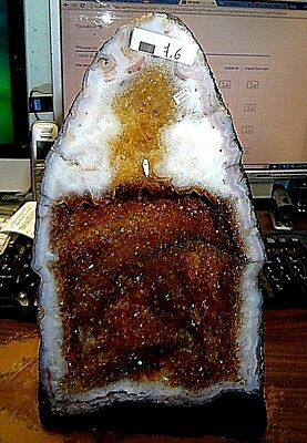 Beautiful 17 Lb Brazilian Citrine Crystal Cathedral Cluster Geode Terrific Price