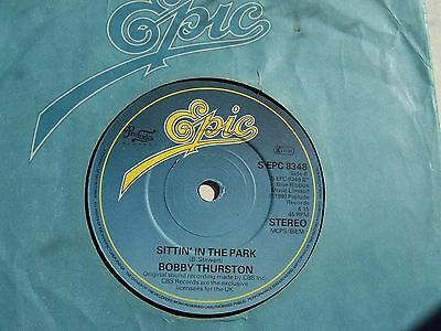 Bobby Thurston, Sittin' In The Park / Check Out The Groove. 1980 Epic Single