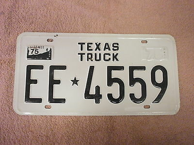 American Texas Truck 1975 # Ee 4559 Rare Souvenir Number Plate