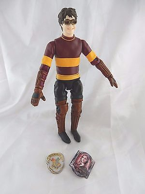 Lovely Harry Potter Posable Action Figure Plus Two Lapel Pins
