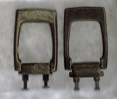 "Set Of 2 Unique Antique Vintage Brass Drawer Pulls 2-1/2"" x 1-3/4"""