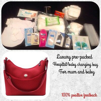 BARGAIN!! Luxury Pre-Packed Hospital Baby Changing Bag /Labour SALE!!!!!/Gift/