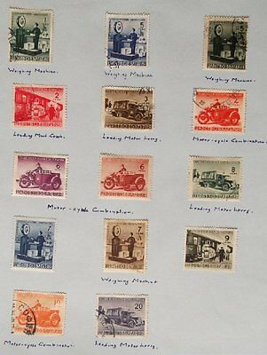 1941 Selection of 14 Mint & used Stamps from Bulgaria-Parcel Post  No BU-007.